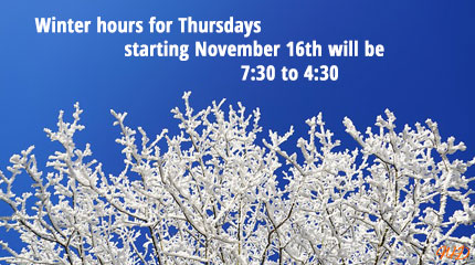 Thursday Winter Hours